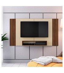painel para tv até 46 pol criando mobilia pa02 com 1 prateleira