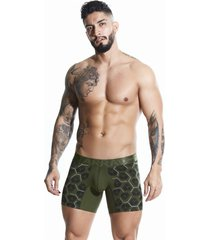 boxer verde militar oscuro hombre algodón estampado corto