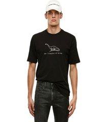 polera t just x61 t shirt negro diesel