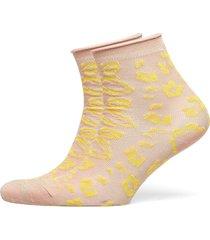 leonia glitter sock lingerie socks regular socks beige becksöndergaard