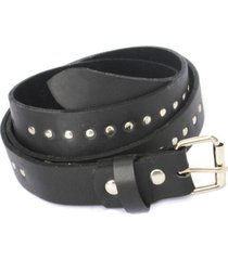 cinturon de mujer negro borchie large leather colection vestopazzo