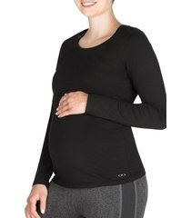 women's modern eternity maternity/nursing tee, size x-small - black