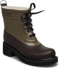 short rubber boot regnstövlar skor grön ilse jacobsen