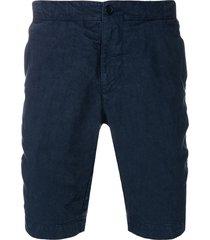 aspesi fitted bermuda shorts - blue