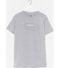 womens self isolation graphic tee - grey