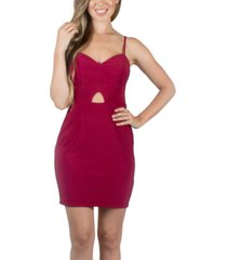 crystal doll juniors' keyhole bodycon dress