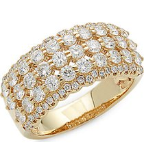 14k gold diamond row ring