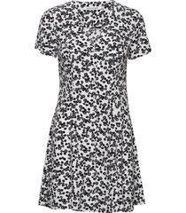 floral ss dress dresses everyday dresses svart calvin klein jeans
