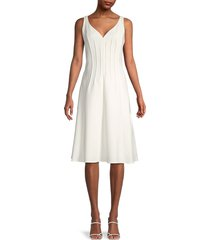 kobi halperin women's hadar pintucked-seam a-line dress - ivory - size 10