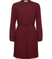 filo print dress knälång klänning röd modström