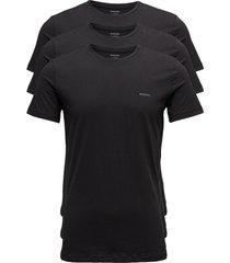 umtee-jakethreepack t-shirts short-sleeved svart diesel men