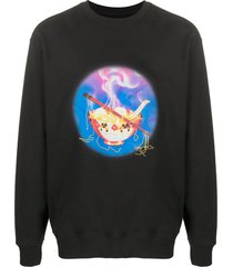 opening ceremony noodle relaxed-fit sweatshirt - black
