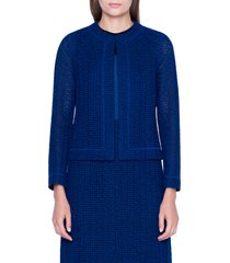 women's akris st. gallen embroidered cotton blend jacket