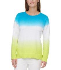 calvin klein cotton dip-dyed sweater