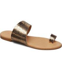 biacai leather toe sandal shoes summer shoes flat sandals beige bianco