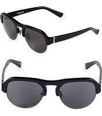 nomad 52mm round clubmaster sunglasses