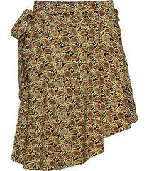 chila s skirt aop 6515 kort kjol brun samsøe samsøe