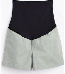 loft maternity washed twill shorts