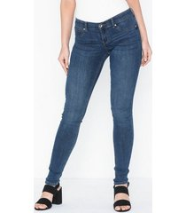 gina tricot skinny low waist superstretch jeans skinny blå