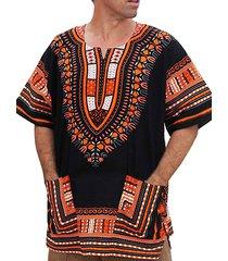 hombres summer tribal pocket v-neck bohemian beach holiday t-shirt