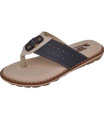 sandália infantil raniel calçados papete chinelo tira dedo marinho/gelo
