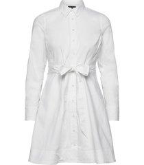 poplin shirt dress knälång klänning vit banana republic