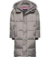 k. long puffer coat gevoerd jack grijs svea