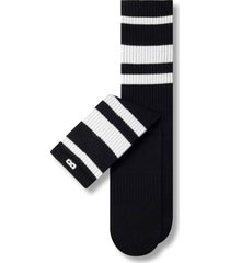 men's pair of thieves bowo assorted 3-pack cushion crew socks, size one size - black