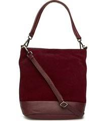 ulrika bag, suede bags top handle bags rood markberg