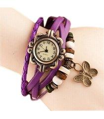 reloj pulsera vintage mariposa - purpura