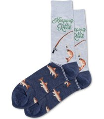 hot sox men's keeping it reel socks