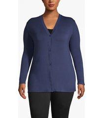 lane bryant women's button-front cardigan 26/28 navy