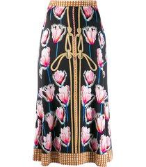 temperley london reversible floral skirt - black