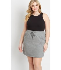 maurices plus size womens heather gray french terry skirt