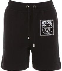 moschino teddy label shorts