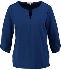 garcia stevig kobaltblauw shirt 3/4 mouw polyester stretch