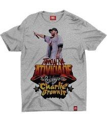 camiseta banda charlie brown jr. - unissex