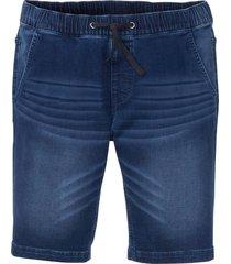 bermuda in jeans elasticizzato slim fit straight (blu) - john baner jeanswear