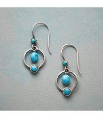 planetary turquoise earrings