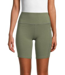 calvin klein women's high-waist bike shorts - black - size s
