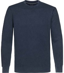 profuomo pullover blauw regular fit ppsj1a0056/p