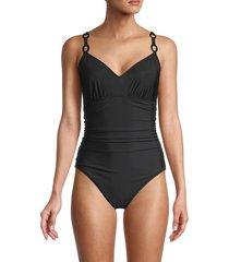 magicsuit women's randal ruched one-piece swimsuit - black - size 14