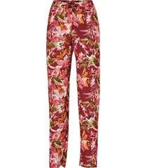 mönstrad pyjamas med lång ärm