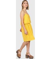vestido amarillo montjuic giglio