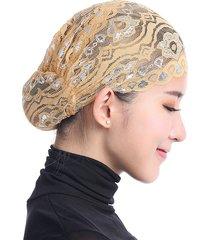 copricapo delle musulmane delle donne copricapo lucido del cappello del merletto cappello islamico