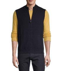 naadam men's knit cashmere vest - smoke - size s