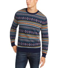 club room men's fairisle crewneck sweater, created for macy's