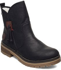 707k8-00 shoes boots ankle boots ankle boot - flat svart rieker