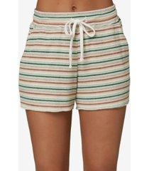 o'neill juniors' rowen striped knit shorts
