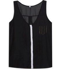 blusa m/s con cinta en frente color surtido, talla s